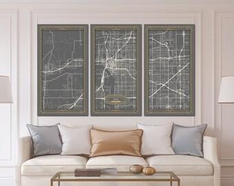 Tulsa map etsy malvernweather Choice Image
