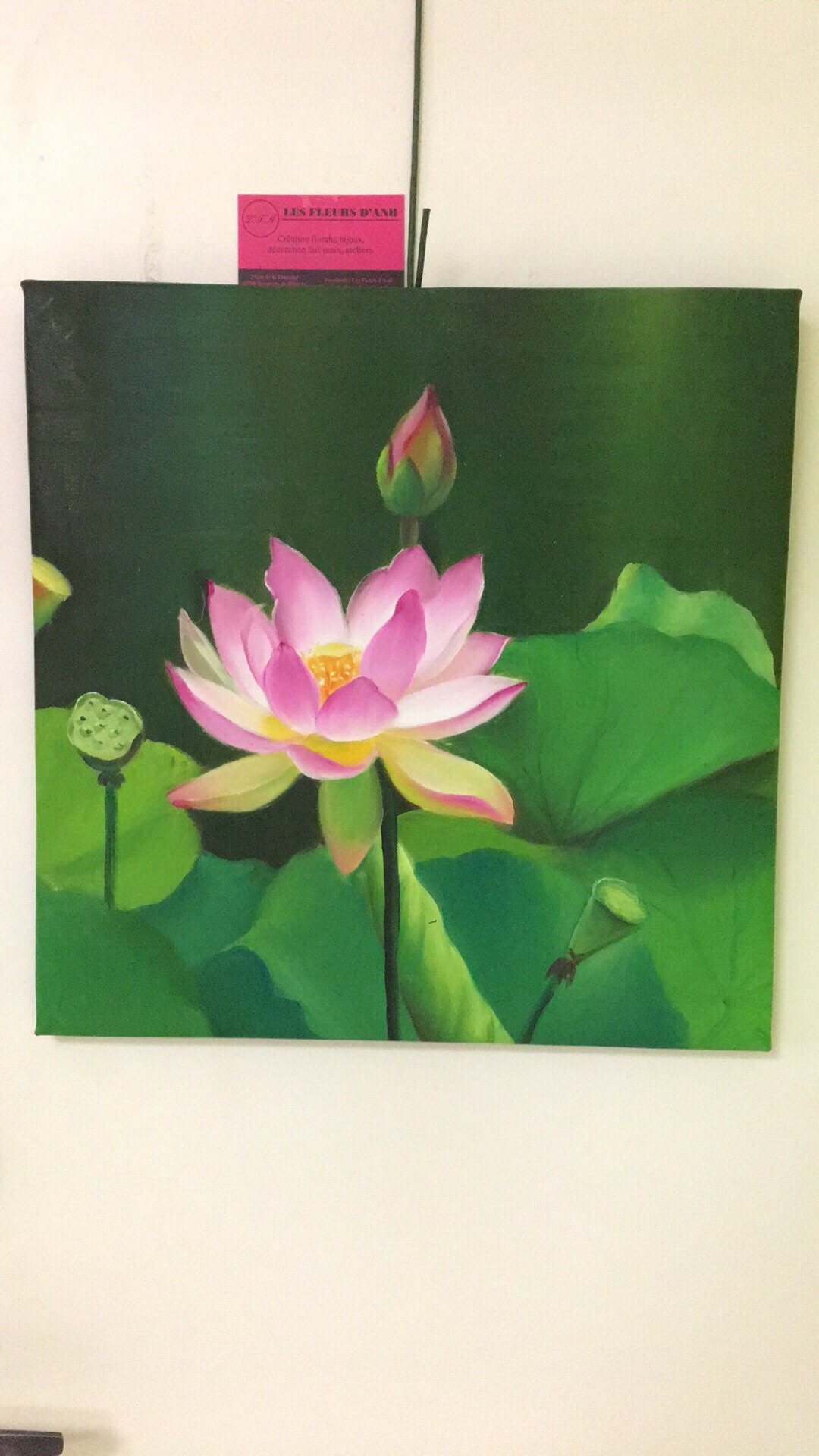 Hand Painted Lotus Flower Etsy