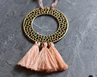 "Necklace ""Pompon"" - Goddess Collection - Antique, Tribal, Boho"