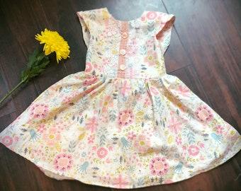 Custom vintage style girls dress