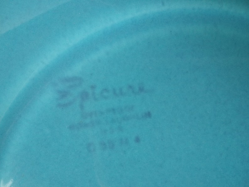 3 EPICURE DINNER PLATES from Homer Laughlin 1014 inch art deco