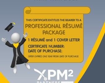 Resume Gift Certificate