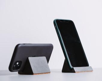 Concrete Phone Holder | (Horizontal and Vertical) Phone Stand | Ipad / Tablet Horizontal Holder | Jesmonite Desk Stand Accessory Smartphone
