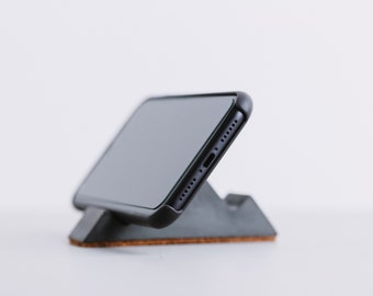 Concrete Phone Holder | Horizontal / Landscape Phone Stand Only | Jesmonite Business Cards Holder | Cement Office Desk Accessory Smartphone