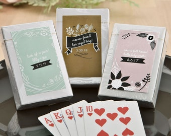 PPD-JM780942ZA 12 pcs Cherry Blossoms Personalized Playing Cards ~ Wedding Favors  Party Favors ~ Playing Cards