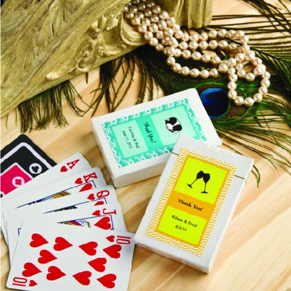 40 100 Personalized Playing Cards Wedding Baby Shower
