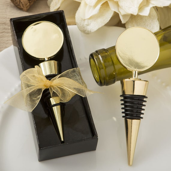96 Silver Metal Wine Bottle Stopper Wedding Bridal Baby Shower Party Favors