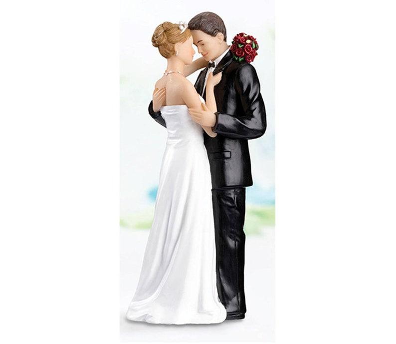 Choose your Ethnicity  1-LRF984 Tender Embrace Bride /& Groom Wedding Cake Topper