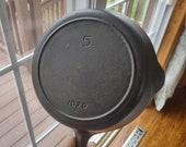Vintage Iron Mountain by Griswold Cast Iron Pan Skillet 5 1030A Fully Cleaned and Seasoned
