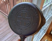 Rare Vintage Griswold Cast Iron Pan Skillet 4 Large Block Logo Erie, PA USA Fully Cleaned and Seasoned