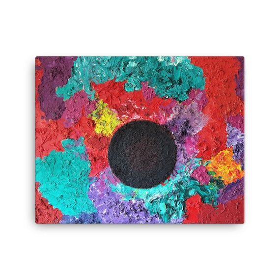 Bartos Art Stretched Canvas: BLACK SUN, Create Your Personalized Environment