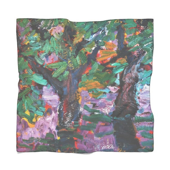 Bartos Art Scarf: BLURRED PURPLE, Enhance your Individuality and Appearance for every Occasion