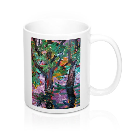 Bartos Art Mug: BLURRED PURPLE, Appreciated Present for every true Hot Beverage Lover