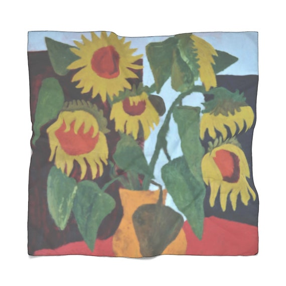 Bartos Art Scarf: Wilted Sunflowers, Enhance your Individuality and Appearance for every Occasion