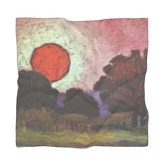 Bartos Art Scarf: Sunset, Enhance your Individuality and Appearance for every Occasion