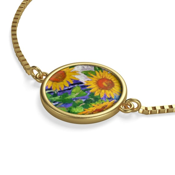 Bartos Art Bracelet: Sunflowers, Emphasize your Individuality and aesthetic Sense