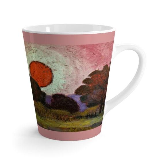 Bartos Art Latte Mug: Sunset, Beautiful Work of Art on Mug for true Coffee Lovers