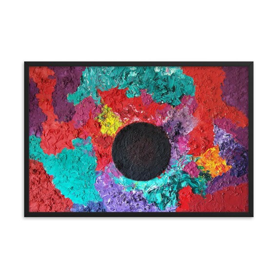 Bartos Art Framed Poster: BLACK SUN, Create a unique and personalized Ambiance in your Home and Office