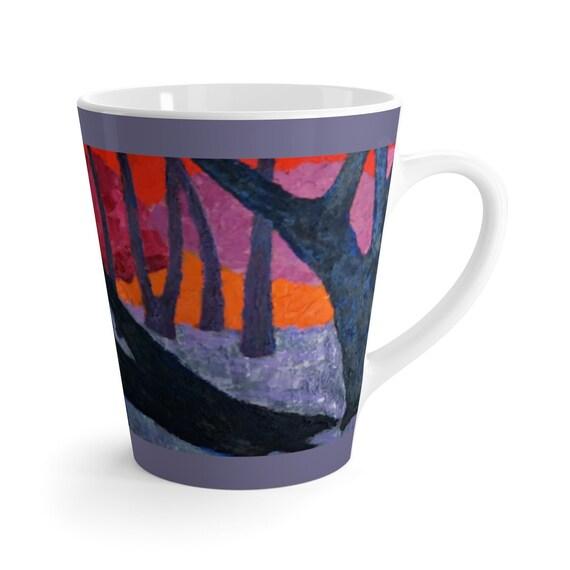 Bartos Art Latte Mug: Woods VII., Beautiful Work of Art on Mug for true Coffee Lovers