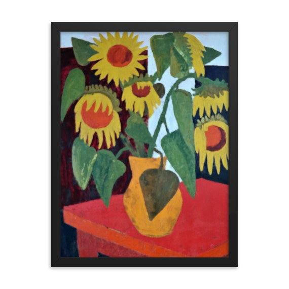 Bartos Art Framed Poster: WILTED SUNFLOWERS, Create a unique and personalized Ambiance in your Home and Office