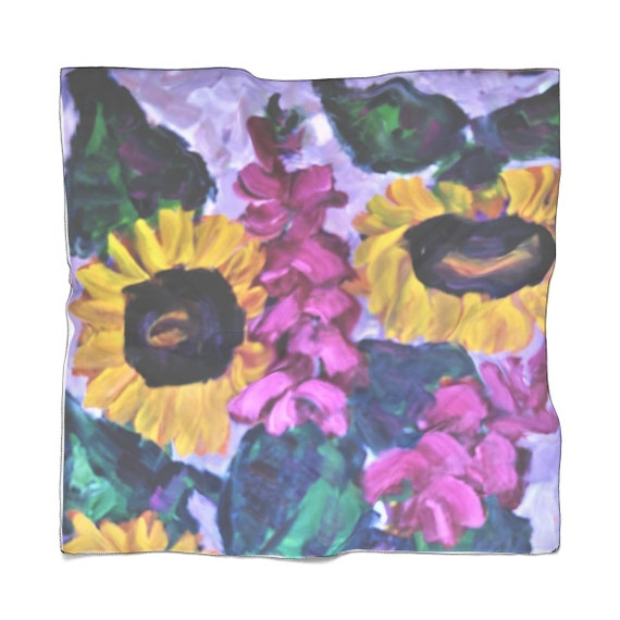 Bartos Art Scarf: Sunflower Still life, Enhance your Individuality and Appearance for every Occasion