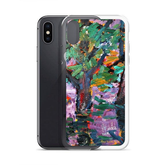 Bartos Art iPhone Case: BLURRED PURPLE, Highlight your unique Appearence
