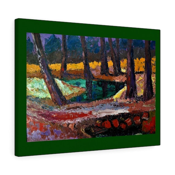 Bartos Art Canvas with Color Margin: FOREST III., Emphasize your Individuality at your Home and in your Office