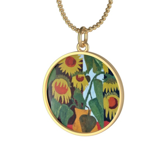 Bartos Art Necklace: Wilted Sunflowers, Individual and aesthetically pleasing Appearance