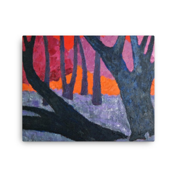Bartos Art Stretched Canvas: WOODS VII., Create Your Personalized Environment