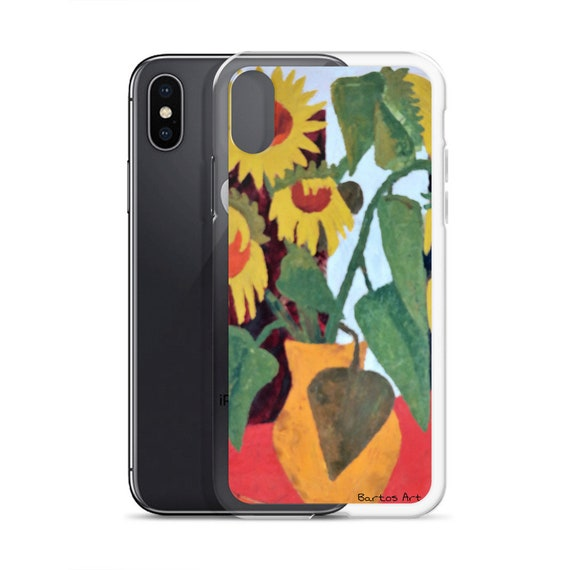 Bartos Art iPhone Case: WILTED SUNFLOWERS, Highlight your unique Appearence