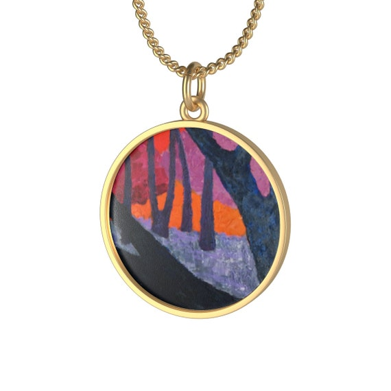 Baros Art Necklace: Woods VII., Individual and aesthetically pleasing Appearance