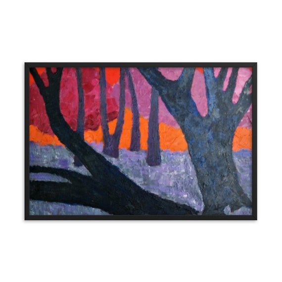 Bartos Art Framed Poster: WOODS VII., Create a unique and personalized Ambiance in your Home and Office