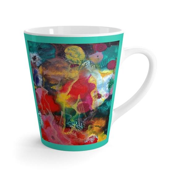 Bartos Art Latte Mug: MIMICRY VI., Beautiful Work of Art on Mug for true Coffee Lovers