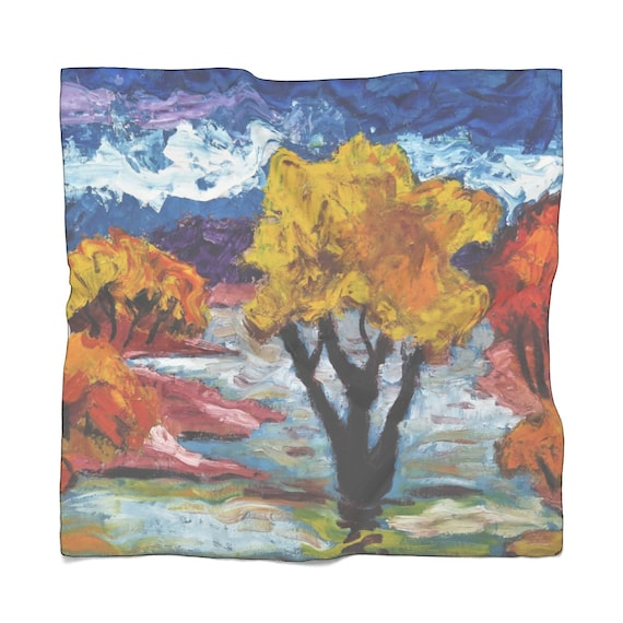 Bartos Art Scarf: Woodland III., Enhance your Individuality and Appearance for every Occasion
