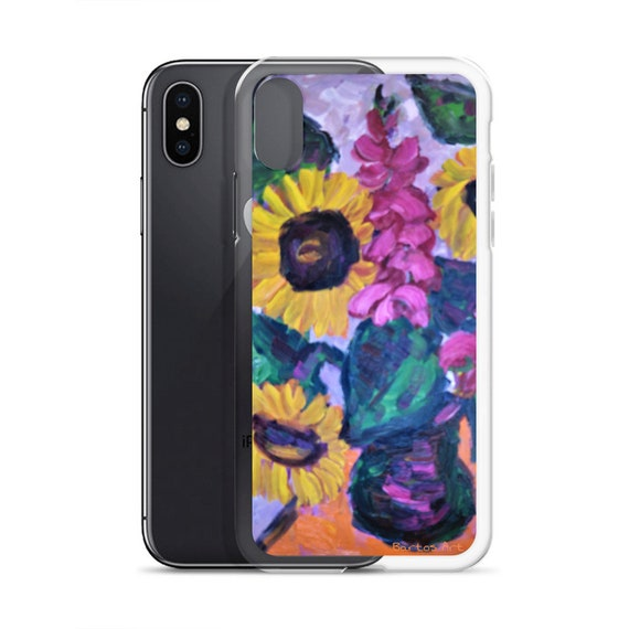 Bartos Art iPhone Case: SUNFLOWER STILL LIFE, Highlight your unique Appearence