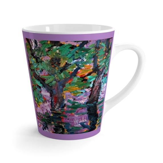 Bartos Art Latte Mug: BLURRED PURPLE, Beautiful Work of Art on Mug for true Coffee Lovers