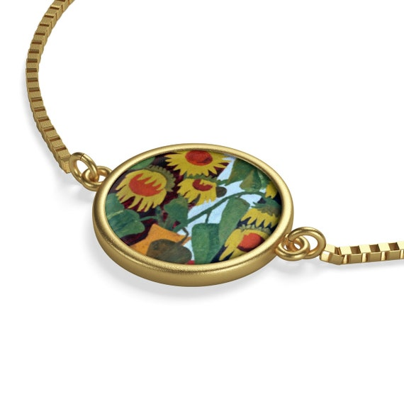 Bartos Art Bracelet: Wilted Sunflowers, Emphasize your Individuality and aesthetic Sense