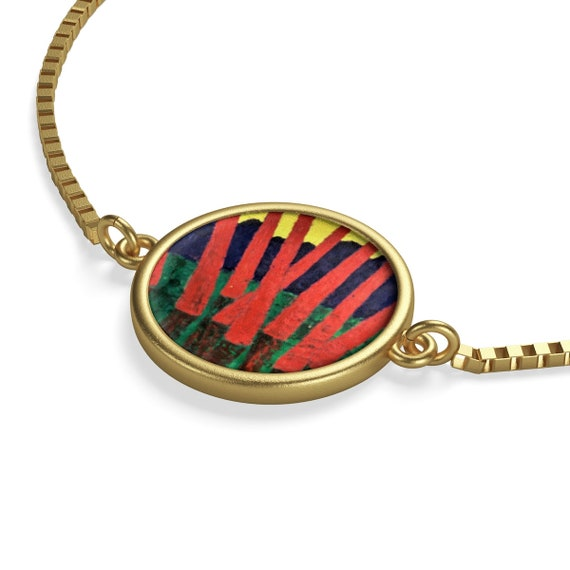 Bartos Art Bracelet: Red Woods, Emphasize your Individuality and aesthetic Sense