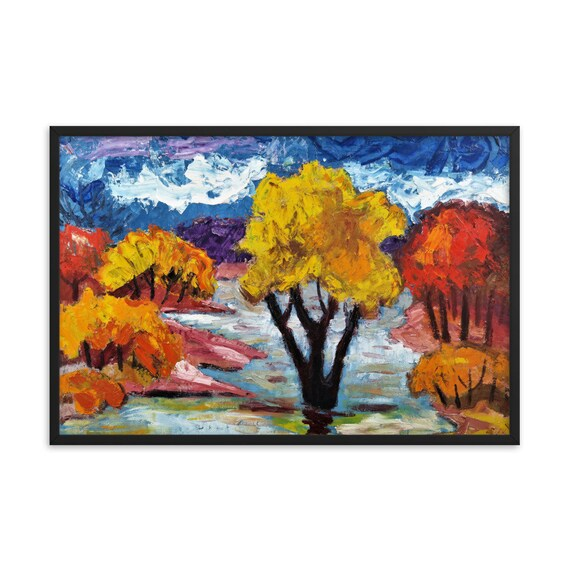 Bartos Art Framed Poster: WOODLAND III., Create a unique and personalized Ambiance in your Home and Office