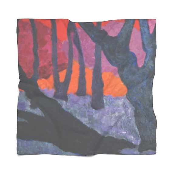 Bartos Art Scarf: Woods VII. Enhance your Individuality and Appearance for every Occasion