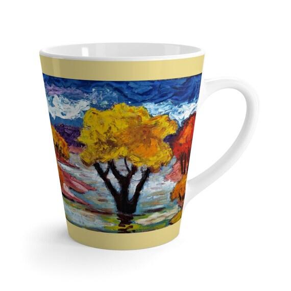 Bartos Art Latte Mug: Woodland III., Beautiful Work of Art on Mug for true Coffee Lovers