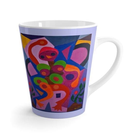 Bartos Art Latte Mug: Birdie, Beautiful Work of Art on Mug for true Coffee Lovers