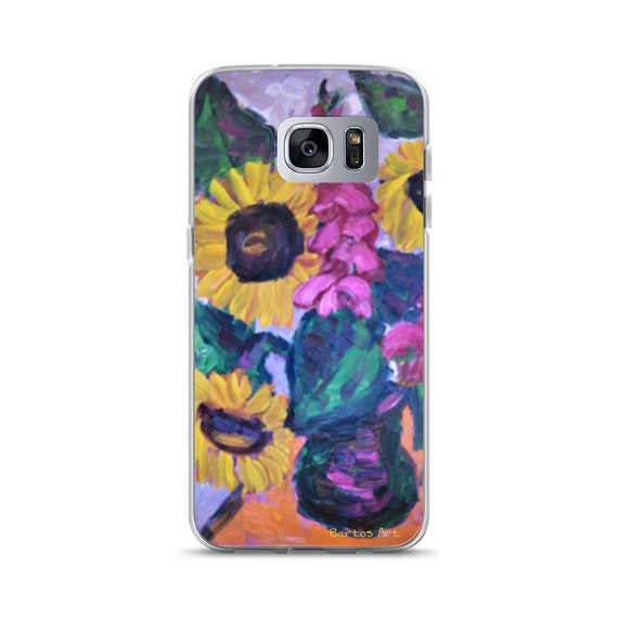Bartos Art Samsung Case: SUNFLOWER STILL LIFE, Highlight your unique Appearance