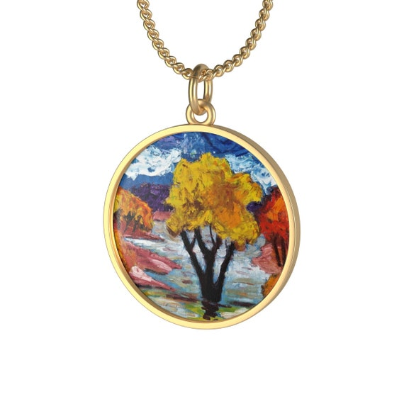 Bartos Art Necklace: Woodland III., Individual and aesthetically pleasing Appearance