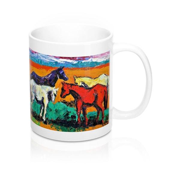 Bartos Art Mug: Horses, Appreciated Present for every true Hot Beverage Lover