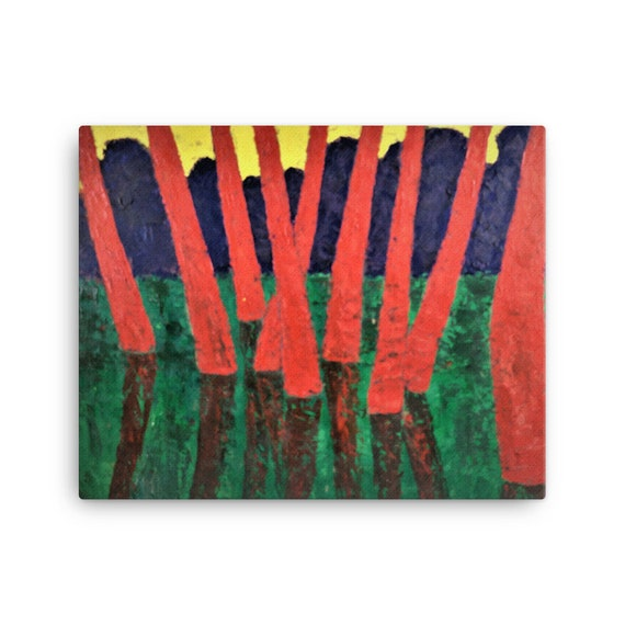 Bartos Art Stretched Canvas: RED WOODS, Create Your Personalized Environment