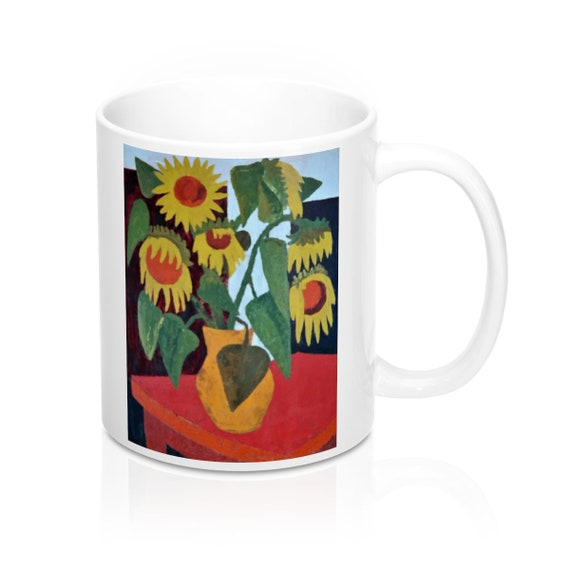 Bartos Art Mug: Wilted Sunflowers, Appreciated Present for every true Hot Beverage Lover