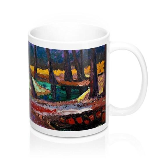 Bartos Art Mug: FOREST III., Appreciated Present for every true Hot Beverage Lover