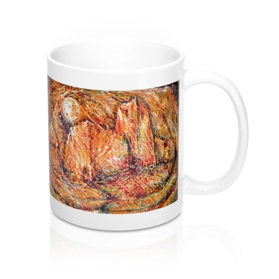 Bartos Art Mug: Abstract Castle, Appreciated Present for every true Hot Beverage Lover