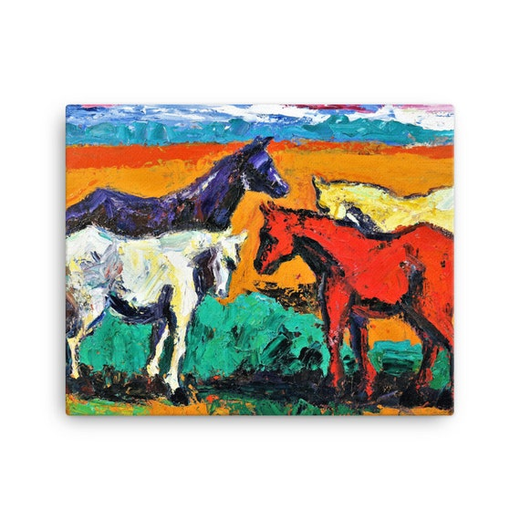 Bartos Art Stretched Canvas: HORSES, Create Your Personalized Environment